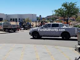 ranger ford 2019 spied 2019 ford ranger hauling sand ford authority