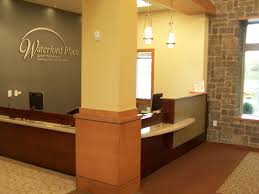 reception desks for offices custom counters area column bases wall