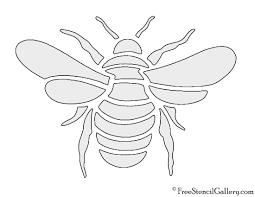 bee stencil free stencil gallery
