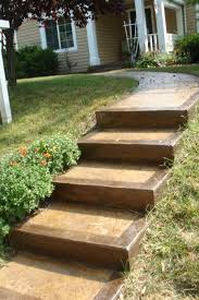 stained concrete steps and walkway rehabbing ideas pinterest