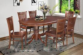 6 pc dinette kitchen dining room set table w 4 wood chair 7 pc oval dinette kitchen dining room set 42 x78 table 6 chairs