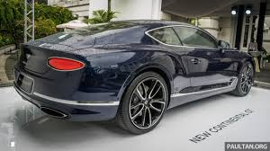 diamond bentley 2018 bentley continental gt previewed in singapore