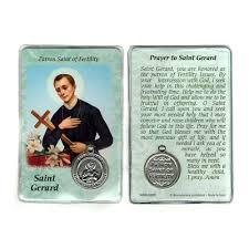 prayer card gerard prayer card with medal
