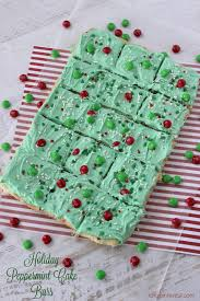 holiday peppermint cake bars i dig pinterest