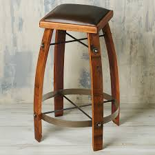 swivel barrel chairs for sale vintage oak wine barrel bar stool 24 inches with chocolate leather