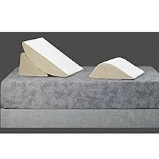 sit up bed pillow amazon com bed wedge 3 piece sit up pillow system health