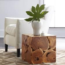 teak cube coffee table wisteria