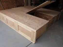 Diy King Size Platform Bed by Adorable King Size Platform Bed With Storage Plans And Build A