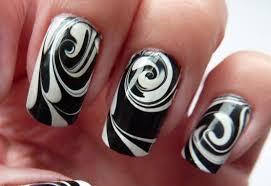 50 most beautiful black and white nail art designs