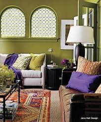 boho color schemes bohemian style living room with moss green