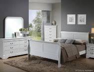 philippe white 6pc king bedroom set art van furniture