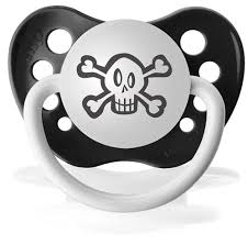 amazon com personalized pacifier skull black baby