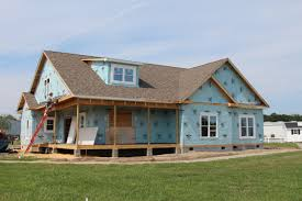 home dek decor architecture beautiful blue wall decor with wood dek and dormer