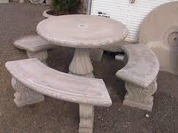Concrete Patio Table Set Concrete Patio Table And Benches 700tbt Cnxconsortium Org