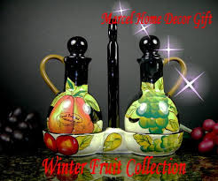 Marcel Home Decor Kitchen Decir Winter Fruit Oil U0026 Vinegar Set Marcel Home Decor