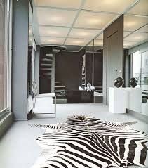 Black And White Modern Rug Furniture Small Living Room Design With Zebra Pattern Fabric Rug