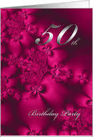 50th birthday invitations from greeting card universe
