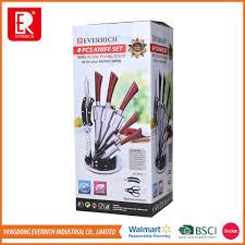 8pcs professional super sharpness hollow handle complete kitchen
