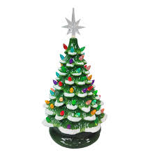 Lowes Lighted Christmas Decorations by Shop Holiday Living Pre Lit Winter Scene Christmas Tree With