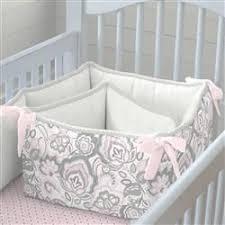pink flower garden crib skirt gathered carousel designs