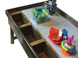 duplo table with storage 2 or 3 bin custom duplo storage table wood kids table