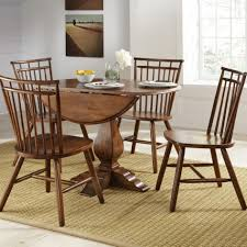 Kitchen Table Rugs Interesting Round Brown Wooden Drop Leaf Kitchen Table Sisal Area