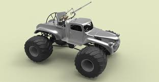 bigfoot monster truck model 3d model big foot from mad max fury road cgtrader