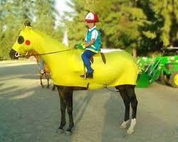 Pikachu Costume Horse Costumes Sleezy Barb Horsewear