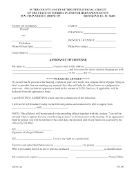 affidavit of defense template by richard cataman affidavit