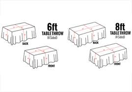 8 Ft Table Dimensions by Custom Printed Table Throws 4over4 Com