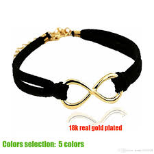 charm bracelet infinity images New gold infinity bracelets black leather chain infinity symbol jpg
