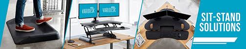amazon com varidesk standing desk anti fatigue comfort floor mat