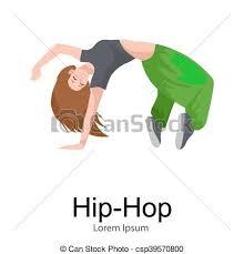 imagenes en movimiento bailando baile moderno aislado bailarín hembra niña estilo clipart