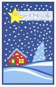 yellow snowfall card by freedom greetings