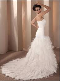 feather wedding dress new arrival mermaid wedding dress 2017 feather beading