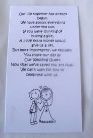wedding sayings for and groom 50 small wedding gift poem cards asking for money groom 1
