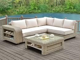 canape de jardin canapé d angle de jardin kuopio résine tressée beige crème