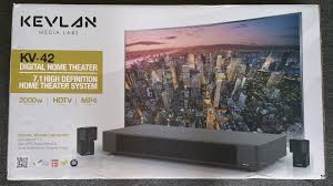 7 1 home theater systems kevlan media labs kv 42 7 1 channel high definition home theater