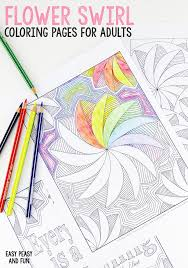 easy peasy coloring page 3 flower swirl coloring pages for adults easy peasy and fun
