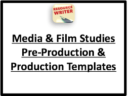 media u0026 film studies production templates u0026 exemplars by