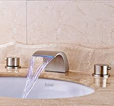 Amazon Bathroom Faucets by Senlesen Widespread Led Bathroom Waterfall Basin Faucet Dual