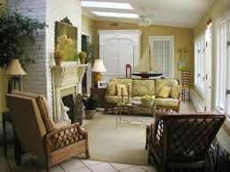 sunroom boat decor fireplace white brick fortable home design
