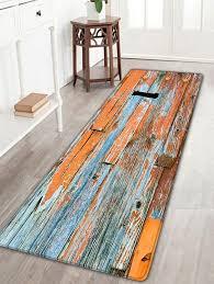 Retro Bathroom Rugs Flannel Skidproof Retro Wood Grain Rug Wood Color W Inch L Inch