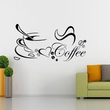 diy removable coffee cup quote word decal vinyl home kitchen decor