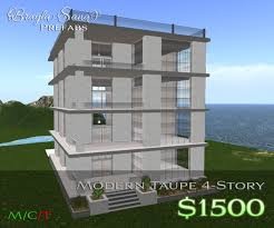 3 story building second life marketplace discontinued br modern taupe four