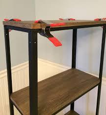 Cheap Wood Bookshelves by Remodelaholic Wood And Metal Ikea Hack Industrial Shelf