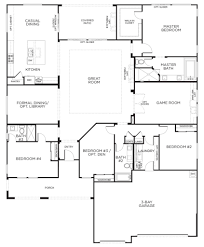 One Story 4 Bedroom House Floor Plans by Marvellous 4 Bedroom Floor Plans One Story 31 About Remodel Decor