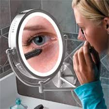 magnification mirror with light lighted oval magnifying mirror abledata