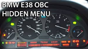 how to unlock hidden menu in bmw e38 obc on board computer