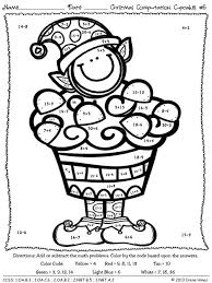 christmas math coloring pages 3rd grade multiplication christmas